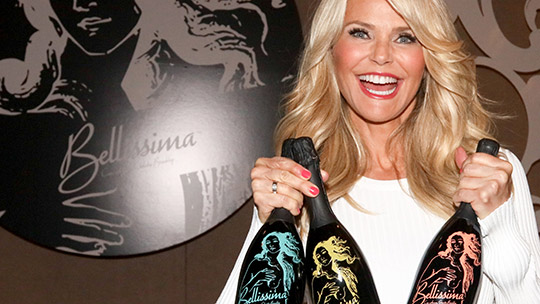 christie brinkley launches skinny champagne divabetic